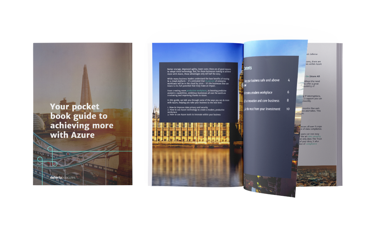 Doherty Your pocket book guide to achieving more with Azure Mockup
