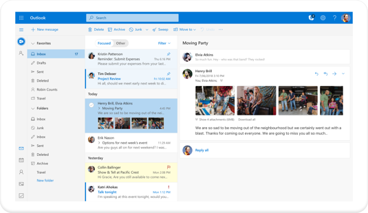 Team collaboration tool: Outlook