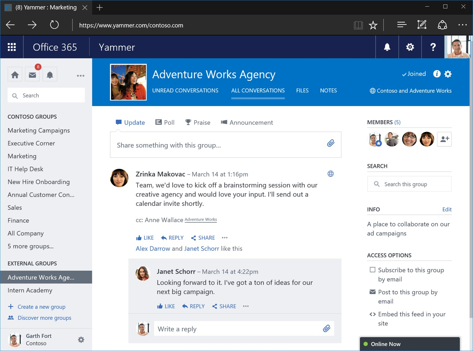 workplace productivity tool: yammer