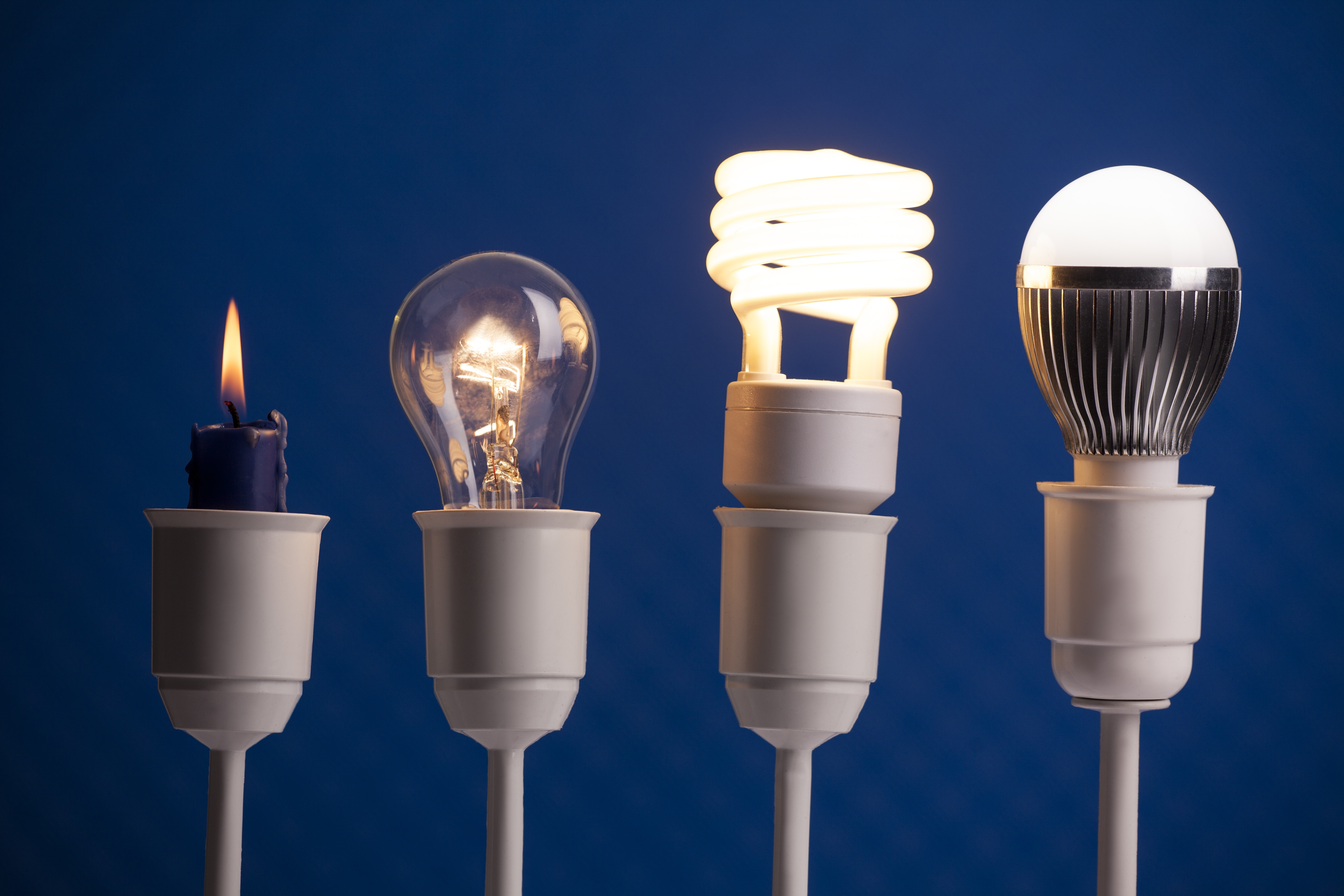 candle to modern lightbulb evolution - business innovation